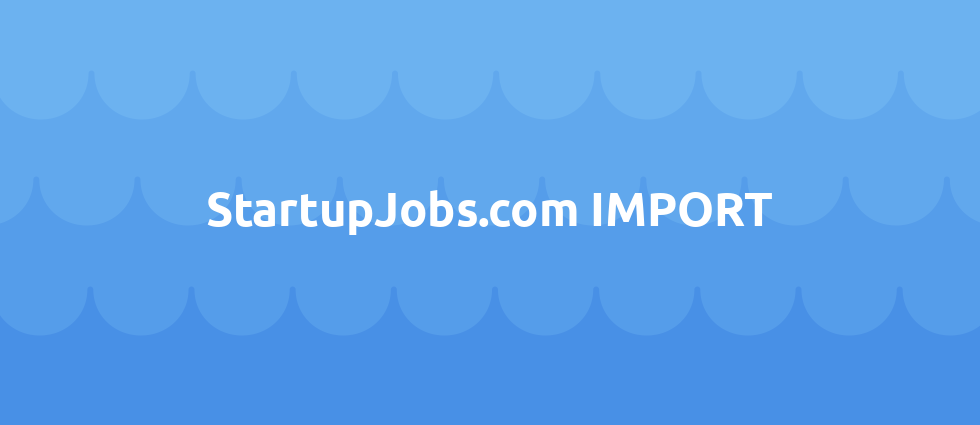 StartupJobs.com IMPORT cover